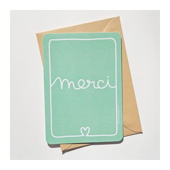"""Merci"" post card"