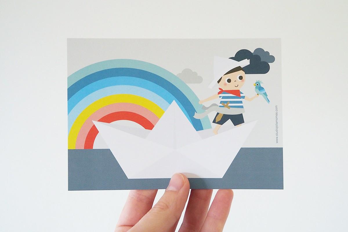 Rainbow Pirate Carte postale