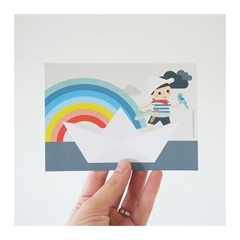 Rainbow Pirate Carte postale