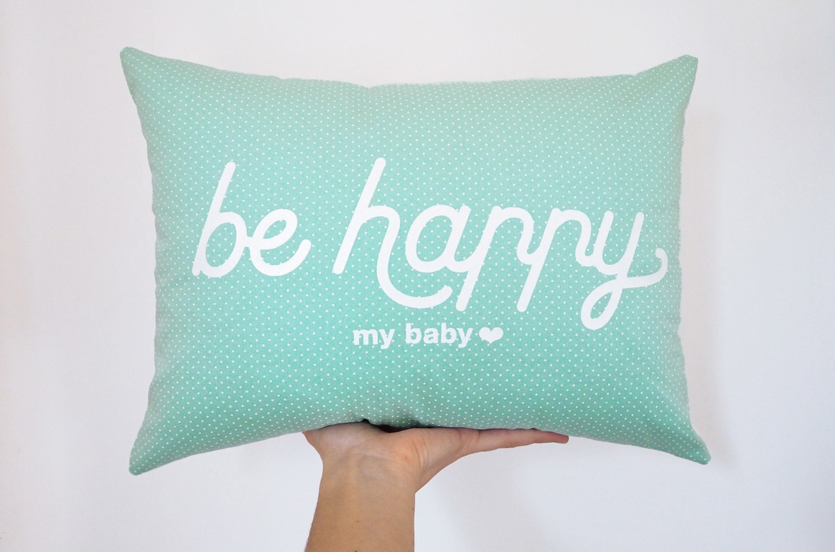 Coussin Be happy