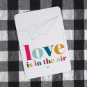 """Love is in the air"" post card"