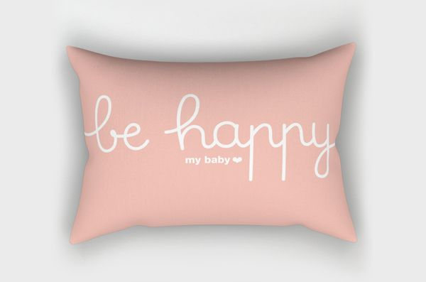 Coussin Be Happy *corail