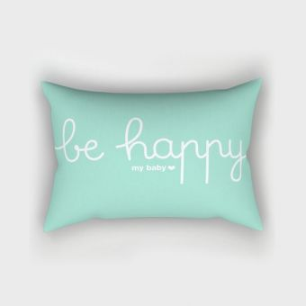 Coussin Be Happy *menthe*