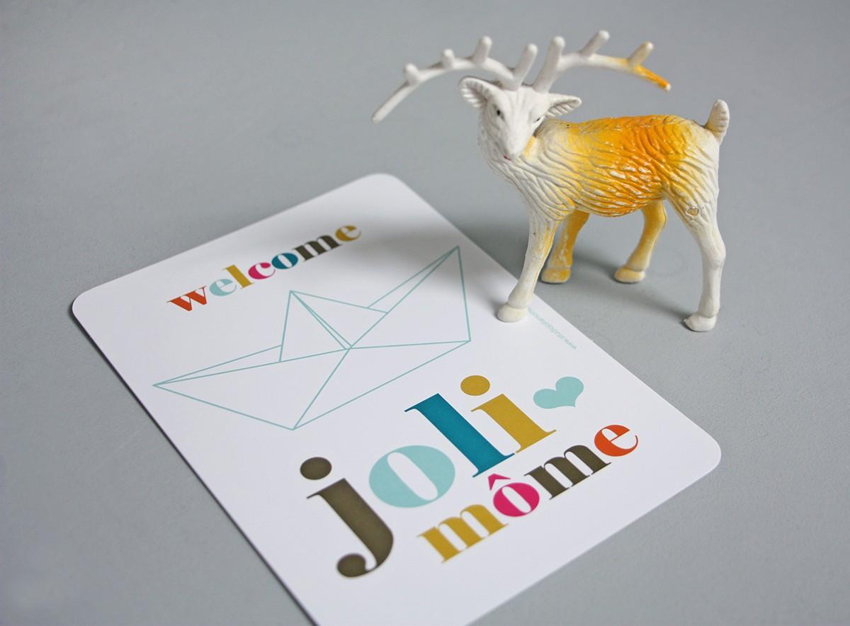 Welcome origami post card - JOLIS MÔMES - photo#42