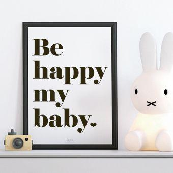 Be happy noir&blanc